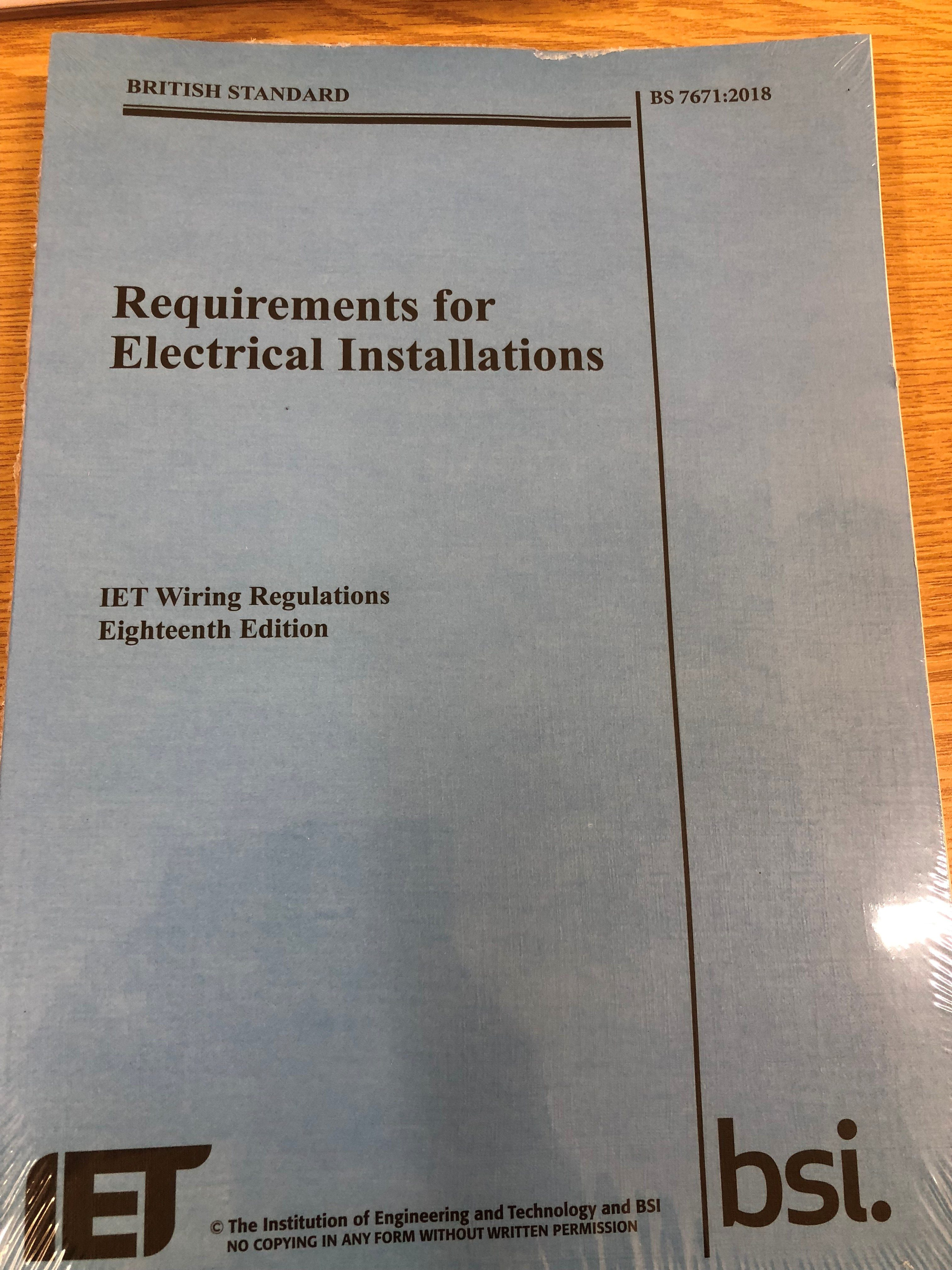 18th edition wiring regulations book proactive technical training rh proactivetechnicaltraining co uk Electrical Wiring Diagrams for Electric Heat Electrical Wiring for School