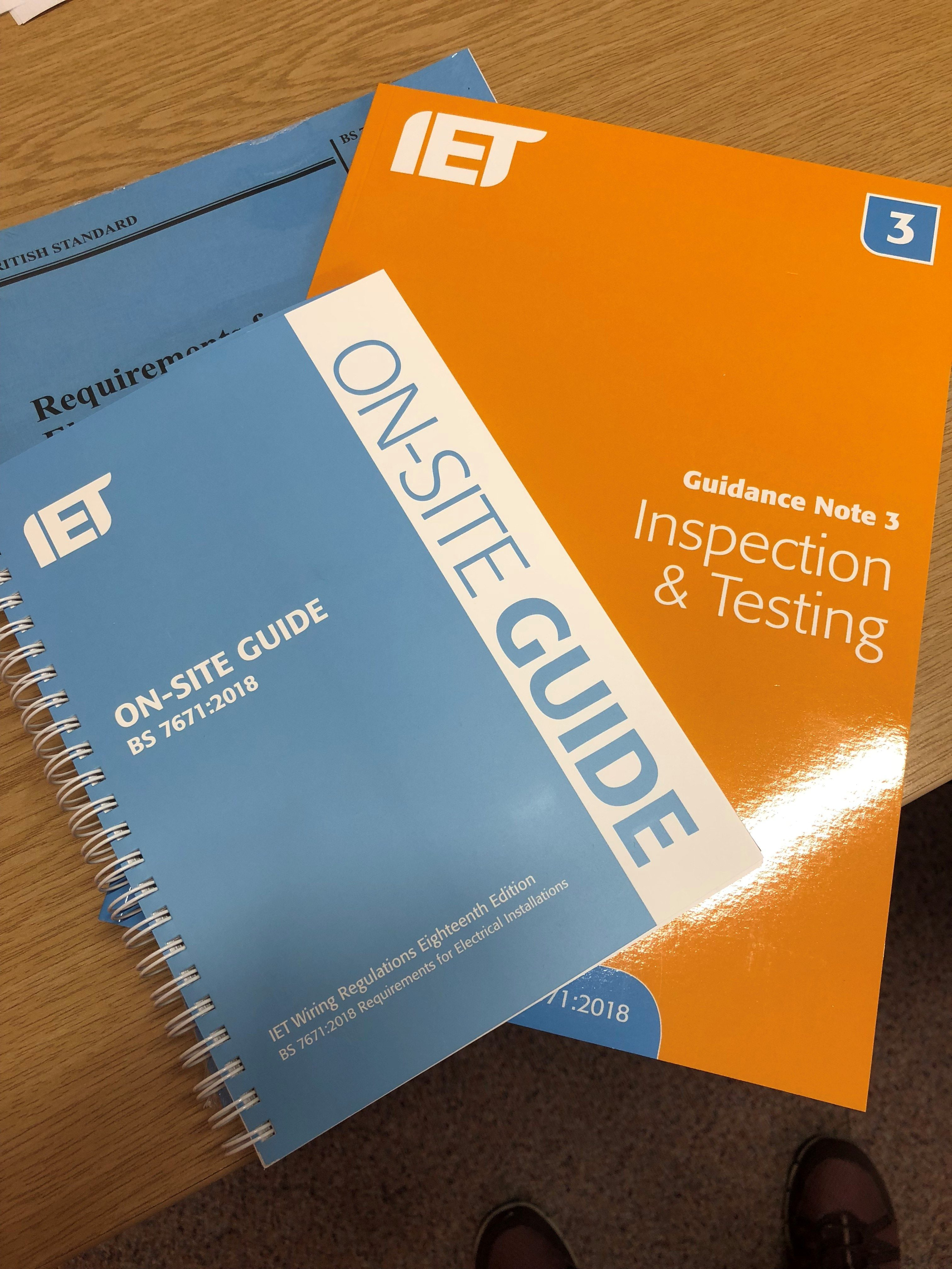 Book Bundle Bs 7671 Guidance Note 3 On Site Guide Proactive Technical Training